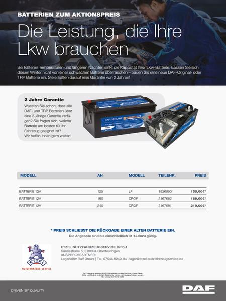 Batterien zum Aktionspreis
